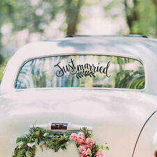 Just Married Window Cling - Party Decor - 1 Piece