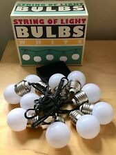 STRING OF TEN LED WHITE BULBS  - PARTY LIGHTS -  BATTERY POWERED