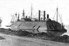 Civil War Ironclad USS Essex Navy River Gunboat at Baton Rouge, Louisiana  1862