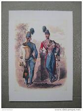 Affiche cartonnée : hussards second empire