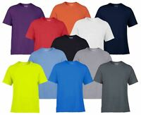 Gildan Mens Men's Core Performance Plain Rounded Neck T-Shirts