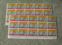 Lot of 2 Vintage Sheets of 15 Charity Stamps 1953 Gold Star Wives Serice