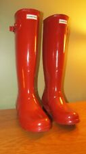 HUNTER WOMEN'S ORIGINAL TALL RAIN BOOTS RED -  SIZE 9