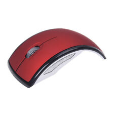 Rosso Mouse Pieghevole Wireless 2,4GHz 10mt per PC Tablet Laptop W2Q5