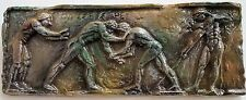 Greek Roman Nude Male Wrestlers Wall Plaque Antique Reproduction
