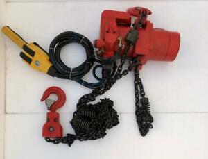 TOKU TCR-1000 PNEUMATIC AIR CHAIN HOIST 1 TON CAPACITY 10 FT. TRAVELLING #NEW