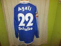 FC Schalke 04 Adidas Langarm Matchworn Trikot 2001/02 + Nr.22 Agali Gr.XL TOP