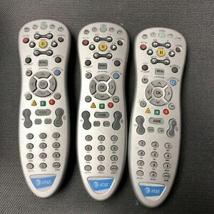 3 AT&T U-Verse Standard Remote Control Silver RC1534801/00 - Tested & Cleaned!