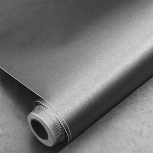 0.4x3m Self Adhesive metal Brushed Contact Paper Vinyl Film Wallpaper DIY Decor