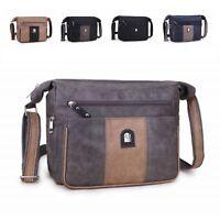 Ladies Faux Leather Shoulder Bag Multi Pocket Work Messenger Bag Handbag M1738