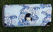 Handmade Bassinet, stroller, play mat  cotton quilt blue Kimmi Dolls