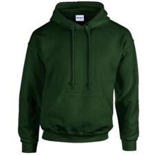 Sudadera con capucha de hombre en color principal verde 100% algodón