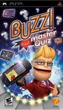 Buzz Master Quiz (2008) New Factory Sealed USA Sony Playstation Portable PSP