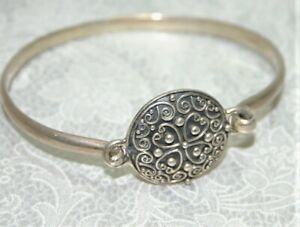 Pretty Sterling Silver Suarti Bangle - Balinese Style - Thames Hospice