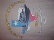 Corpus Christi TX US Navy IBU 15 Anti Terrorism Force Protection tan M t shirt