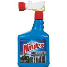 Windex Outdoor 32 Oz. NO LADDER Glass & Surface Cleaner Connects to Water Hose
