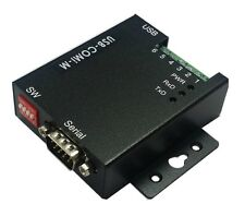 VSCom USB to serial adapter, RS232/RS422/RS485, metal, FTDI,DIN-rail mountable