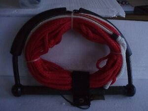 Tow line with handle - red