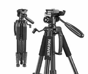 Tripod Portable Aluminum 3 Way Swivel Pan Head For Canon Nikon Sony DSLR Camera