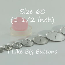 """10 WIRE BACK Cover/Covered Buttons Kit Size 60 (1 1/2""""/38mm) Fabric SELF COVER"""