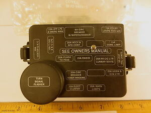 FORD 1989 AEROSTAR 6 CYL. COVER ASSY (FUSE JUNCTION PANEL) INCLUDES FUSES NOS