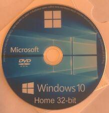 Windows 10 Home 32 Bit Boot Disc, Reinstall Disc, Repair (CD/DVD)