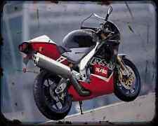 Aprilia Rsv1000 99 2 A4 Metal Sign Motorbike Vintage Aged