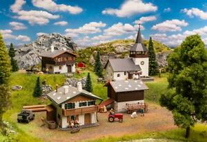 Faller 190075 Set Swiss Dörfli Town With 4 Buildings New Boxed