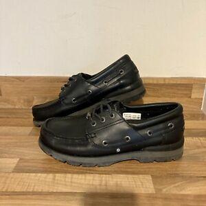 Black Ben Sherman Boat Shoes Mens UK Size 10