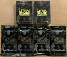 Star Wars CCG Premiere Limited Edition Starter Deck (x2) + Booster Packs (x4)