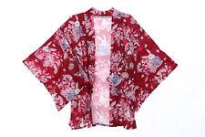 KJ-03-2 rot Glücks-Hase Rabbit Bunny Haori Über-Jacke Kimono Yukata Japan Geisha