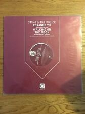"Sting The Police Maxi Vinyl Uk Promo 12"" Roxanne Walking On The Moon Remix Red"