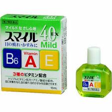 LION Smile 40 EX mild Eye Drops 15ml lotion Vitamin Japan Free Shipping