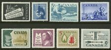 Canada   1958   Unitrade # 375-382   Complete Mint Never Hinged Year Set