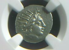 Greek Silver drachm from Caria Island of Rhodes 88-84 BC  NGC Ch XF   4044