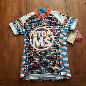 Canari Womens Small Cycling Jersey Stop MS Bay to Bay 2015 New Sclerosis S ss