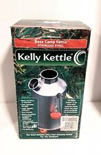 Kelly Kettle Base Camp Stainless Steel Camping Kettle New with Bonus Pot Support