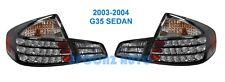 FOR INFINITI G35 SEDAN 2003-2004 REAR LAMP TAILLIGHT 4PC SET JDM - BLACK