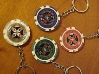 24 x Pokerchips  Schlüsselanhänger, Restposten Sonderposten
