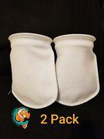 "Two (2) Filter Socks 7"" x 12"" Felt 200 Micron sock Aquarium Reef Wet Dry Sump"