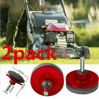 2Pack  Lawn Mower Blade Sharpener Faster Grinding Power Drill Garden Tool Kit Lo