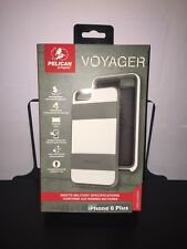 Pelican Voyager w/Holster  iPhone 6 Plus /6s Plus -White/Gray SRP $50
