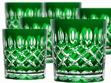 Lead Glass Whisky Glasses Roman 6 Piece (298 Car-G ) Green Crystal Whisky Glass