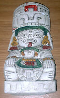 Aztec/Mayan Wall Hanging Seated Figure Sculpture, Made in Mexico - Free Shipping