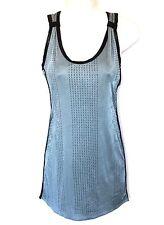 Salvage Sz S Mini Dress Blue Rhinestone Glam Corset Straps Bodycon Club EUC