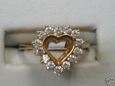 Heart shape CZ 14 kt. Gold Ladies Ring       (221)