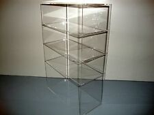"Acrylic Lucite Countertop Display Case ShowCase Box Cabinet 12"" x 6"" x 19"""