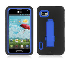 LG Optimus F3 MS659 Metro T-Mobile Hybrid S Armor Case w/Stand Skin Cover