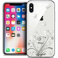 Coque Crystal Gel Pour iPhone X (10) Extra Fine Souple Summer Papillons