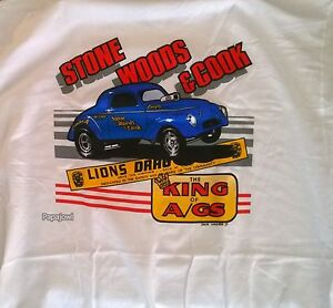 Stone Woods & Cook Lions Drag Strip KING of A/GAS T-Shirt NHRA Willys Long Beach